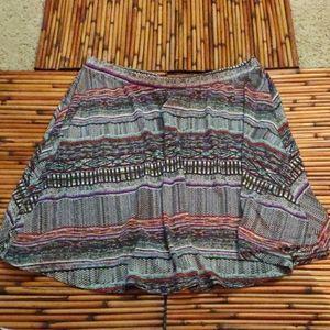 Mossimo Tribal Skirt Large